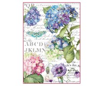 Stamperia Rice Paper A4 Hortensia & Dragonfly (DFSA4307)