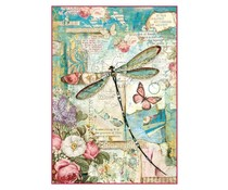 Stamperia Rice Paper A4 Wonderland Dragonfly (DFSA4309)