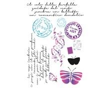 Stamperia Stencil A4 Postcards (KSG289)