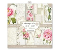 Stamperia Letters & Flowers 12x12 Inch Paper Pack (SBBL22)