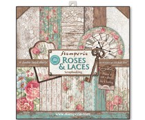 Stamperia Roses & Laces 12x12 Inch Paper Pack (SBBL25)