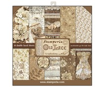 Stamperia Old Lace 12x12 Inch Paper Pack (SBBL32)