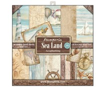Stamperia Sea Land 12x12 Inch Paper Pack (SBBL37)
