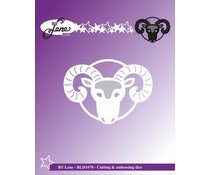 By Lene Cutting & Embossing Dies The Ram (BLD1078)