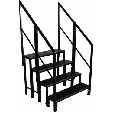 Set stagedex trap 80 cm hoog incl. railing