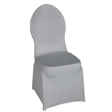 Hoes voor stackchair wit stretch