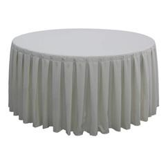 Tafellinnen voor ronde dinertafel wit plissé