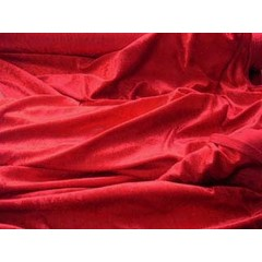Velours rood ring + lint 2.50 m x 2.50 m