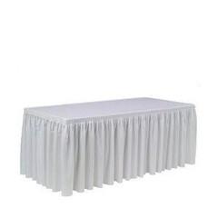 Tafellinnen voor buffet tafel geplooid wit