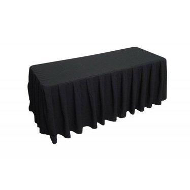 Tafellinnen voor buffet tafel geplooid zwart