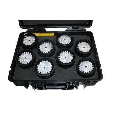 Set 8 x Accu RGB led 'Lightdrop-M' in koffer