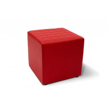 Lounge cube vierkant rood