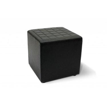 Lounge cube vierkant zwart