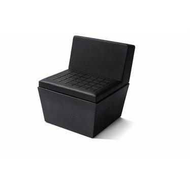 """Summer"" seat vierkant met rug zwart"