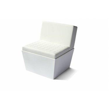 """""""Summer"""" seat vierkant met rug wit"""