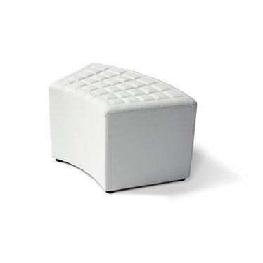 Lounge cube gebogen wit