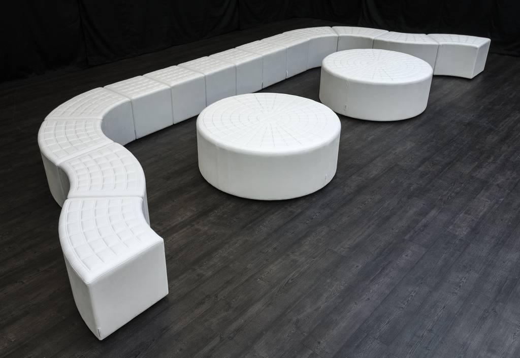 Lounge cube vierkant wit farrows bv de eventinrichter - Decoratie witte lounge ...