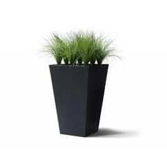 """""""Summer"""" statafel vierkant zwart met groendecoratie Helmgras H140cm"""