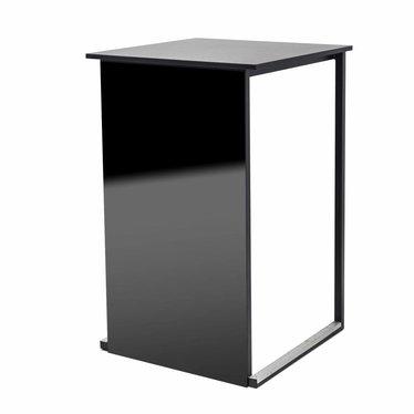 """Statafel """"Kubo Smart"""" zwart met frontplaat zwart"""