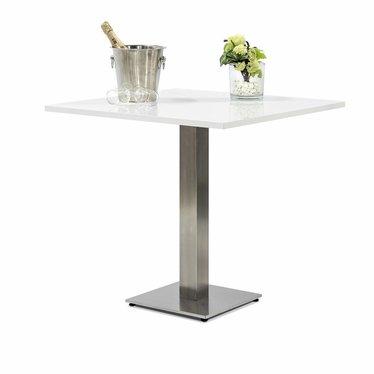 Terras tafel met een Glossy wit blad