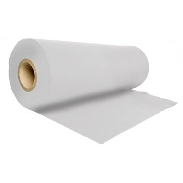 Podiumdoek strak wit 100 cm hoog