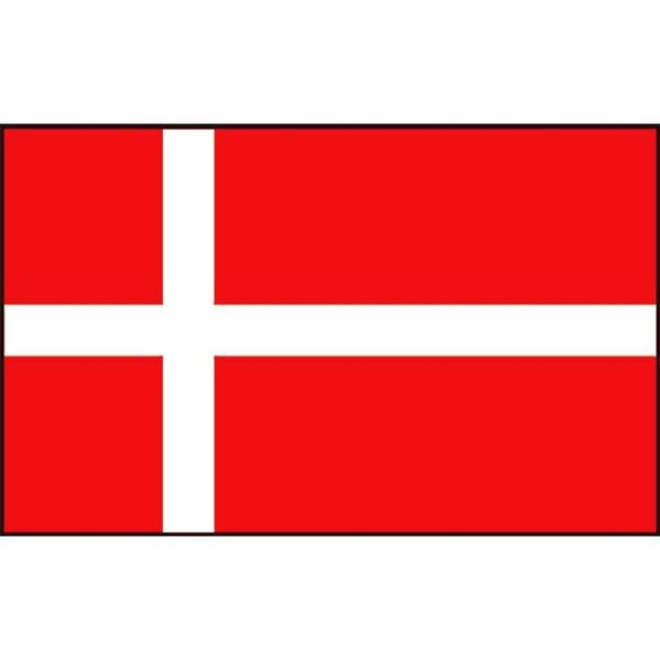 Boot vlag Denemarken 20 x 30 cm