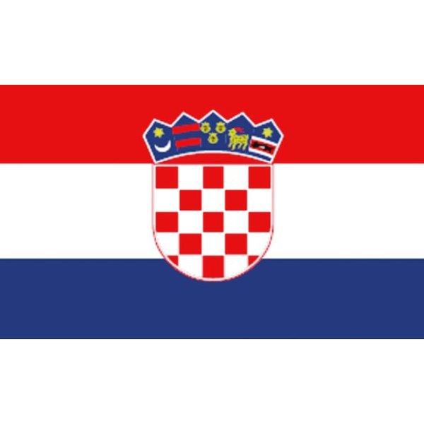 Boot vlag Kroatië 20 x 30 cm