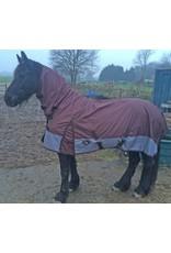 LuBa Paardendekens® Regendeken 1200D COMBO/Vaste hals - Bruin