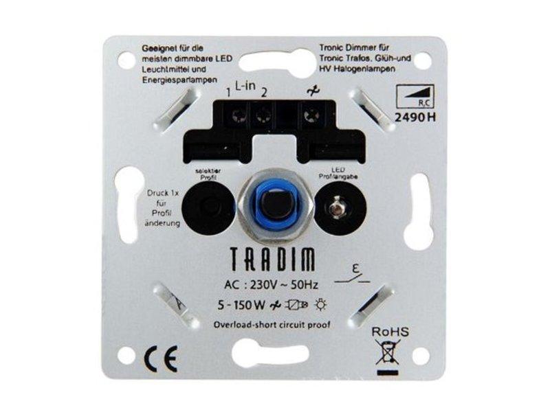 Tradim 2490HPEXOP LED tronic dimmer 5-150 Watt met 8 dimprofielen
