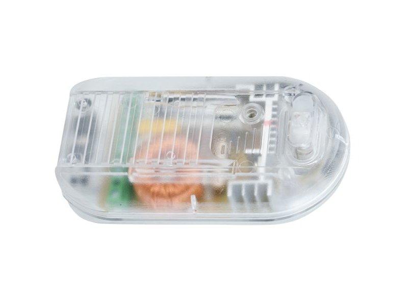 Tradim 31030-1 foot dimmer with switch 40-500 Watt transparent