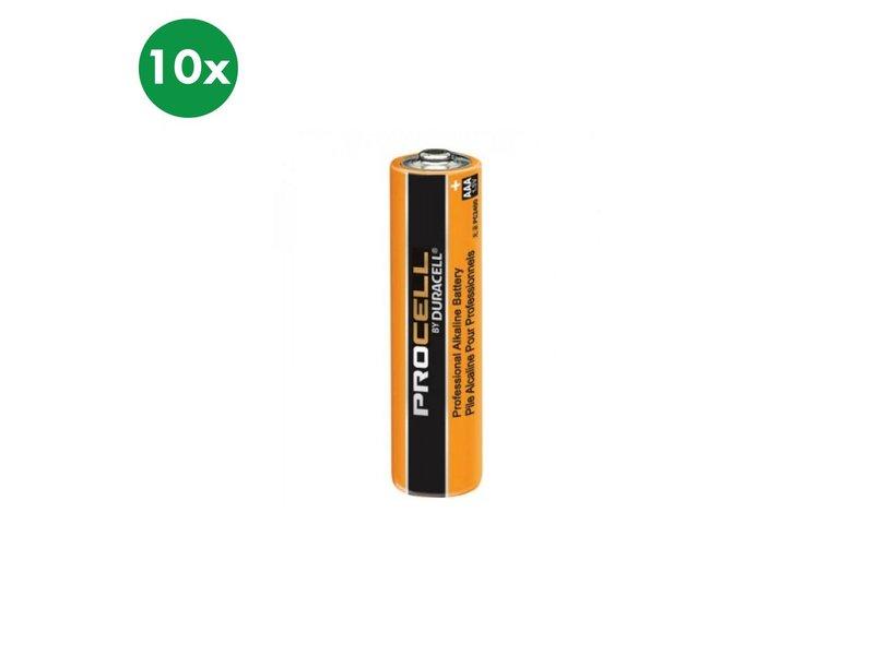 Duracell Alkaline AAA (LR03) batterie 10x