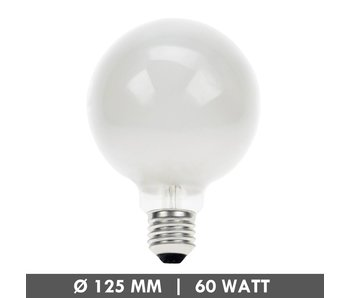 Incandescent globe 125mm 60 Watt frosted E27