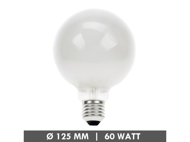 Incandescent 125mm globe dépoli 60 Watt E27