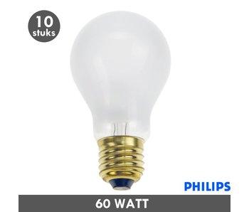 Philips Ampoule à incandescence de 60 watts givré E27 10x