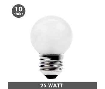 ET48 Ball lamp 25 Watt frosted E27 10x