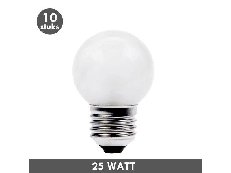 ET48 Ball lamp 25 Watt frosted E27 10x