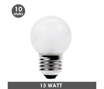 ET48 Ball lamp 15 Watt frosted E27 10x