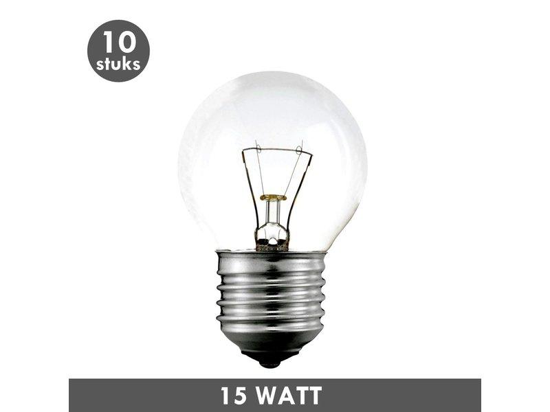 ET48 Lampe ball 15 Watt E27 10x