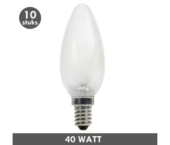ET48 Candle bulb 40 Watt frosted E14 10x