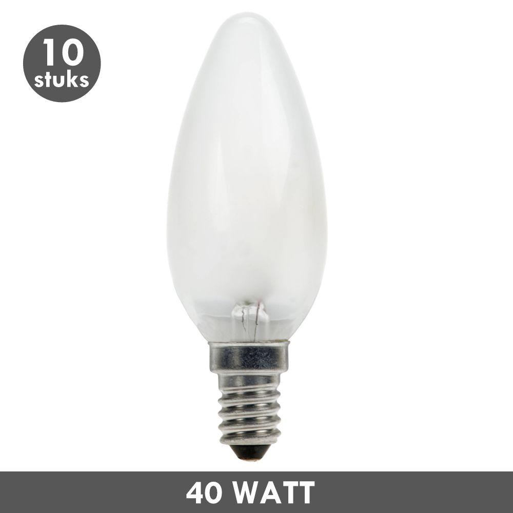 ET48 Candle bulb 40 Watt frosted E14 10x - ET48.com