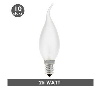 ET48 Tip Candle bulb 25 Watt frosted E14 10x