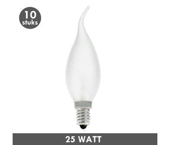 ET48 Tipkaars 25 Watt mat E14 set van 10