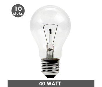 ET48 Gloeilamp 40 Watt helder E27 set van 10