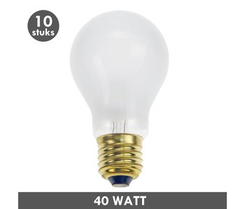 ET48 Incandescent bulb 40 Watt frosted E27 10x