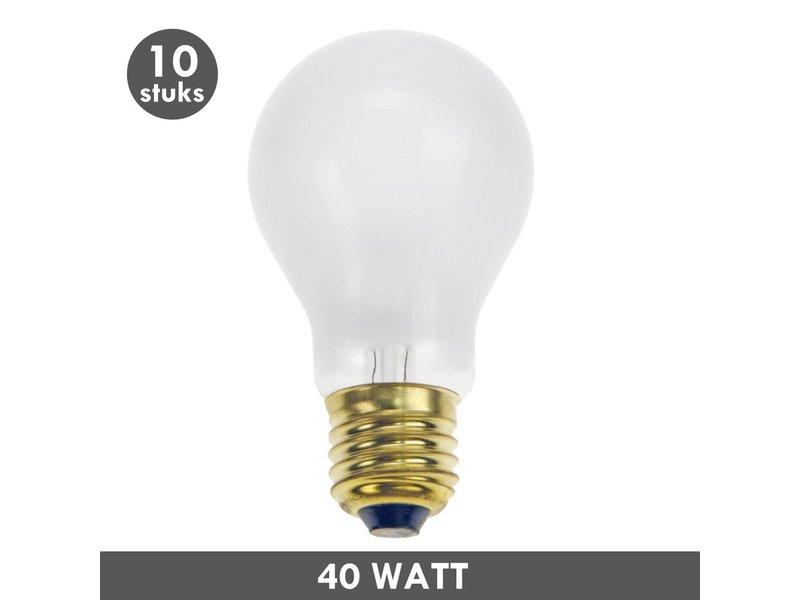 ET48 Gloeilamp 40 Watt mat E27 set van 10