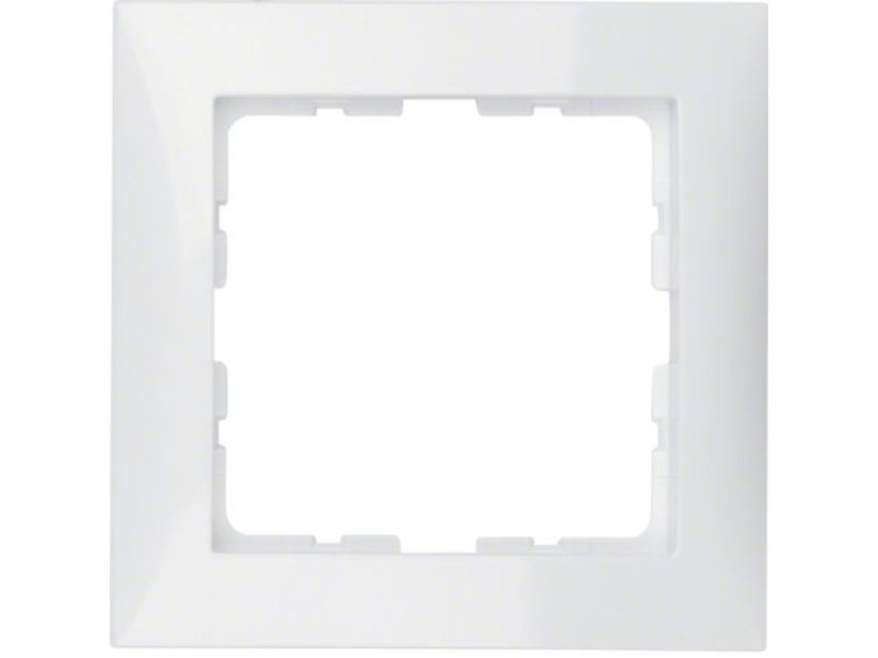 berker s1 afdekraam 1 voudig wit 10118989. Black Bedroom Furniture Sets. Home Design Ideas
