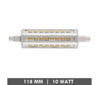 ET48 R7s lampe de tube 118mm 10 watts LED dimmable