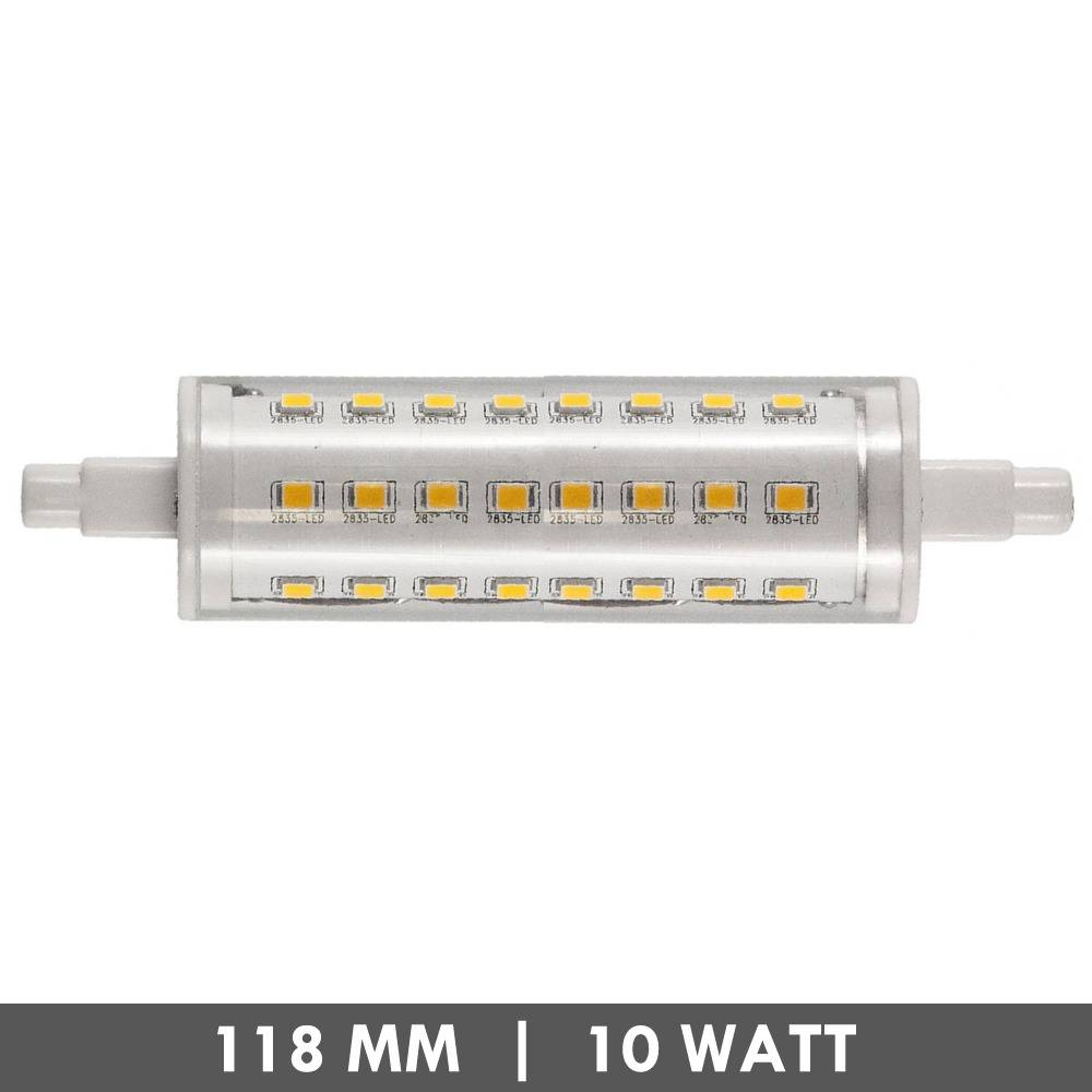 et48 r7s tube led lamp 118mm 10 watts dimmable. Black Bedroom Furniture Sets. Home Design Ideas