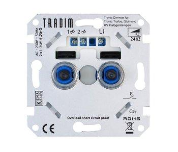 Tradim 2482EXOP duo dimmer 2x 5-75 Watt