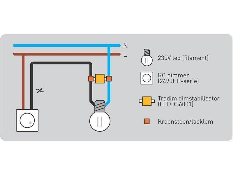 Tradim LED filament dimstabilisator